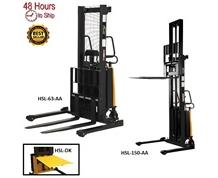 DOUBLE MAST STACKER WITH POWER LIFT